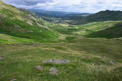 View down Greenburn Valley from Wrynose Pass, Lake District 23/07/15 (debbiej1303) Tags: lakedistrict wrynosepass greenburnvalley