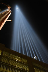 9-11 Pillar of Light Up-close 2 (Amaury Laporte) Tags: newyorkcity usa newyork unitedstates 911 landmarks northamerica tributeinlight memorials september11memorial