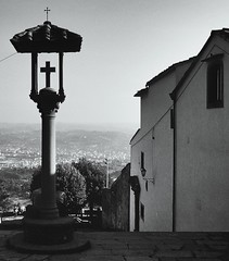 Fiesole - Italy (jcbkk1956) Tags: blackandwhite italy film 35mm mono florence pentax slide tuscany scanned manual fiesole worldtrekker