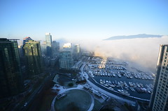 DSC_0613 (Chairman Ting) Tags: mist vancouver marina morninglight coalharbour morningmist vancouvermorning westcoastlife ilovevancouver foggymarina