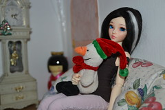 DSC_2591 (DollEmiou) Tags: christmas cute dolls maya chloe difference bjd pullip vs tte taille nezumi stica pullipfc bjdminifee