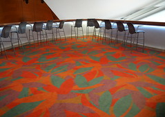 Visiting Disney Hall (Grazerin/Dorli B.) Tags: architecture carpet losangeles chair interior frankgehry waltdisneyconcerthall disneyhall