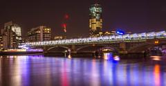 London Blackfriars (huzFlicks) Tags: longexposure nightphotography bridge london water river nikon blackfriars tamron riverthames londonskyline londonnight londonblackfriars nikkor18105 nikond7100