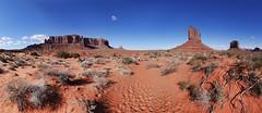 Wild Cat Trail Panorama (BongoInc) Tags: arizona utah monumentvalley navajotribalpark