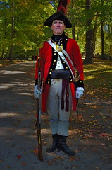 His Majesty's Finest (MPnormaleye) Tags: monument america soldier uniform military guard utata historical british 24mm massechusetts concord revolutionary reenactment hdr redcoat musket