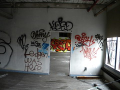 Enter (Randall 667) Tags: street urban building art abandoned graffiti massachusetts exploring ohmy attleboro koed raser blegh