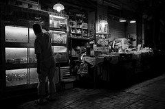 another long night ... (hugo poon - one day in my life) Tags: xt2 23mmf2 hongkong northpoint northviewstreet citynight longday longnight dark solitude fruit store cornerstore streetcorner