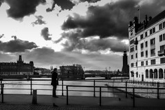 The last person in town (Per sterlund) Tags: bnw street streetphotography man 2016 stockholm sweden monochrome mono fujifilm fujifilmx10 city sverige svartvitt gatufoto baw bw