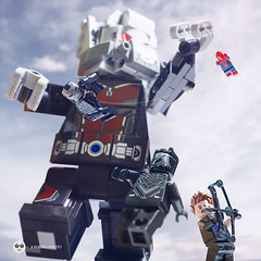 civil war hawkeye & black pather (Young's Lego) Tags: civil war hawkeye captain america lego legography photo photography airport black fanther spiderman machine