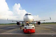 Nosecone of Batik Air A320 (A. Wee) Tags: indonesia  yogyakarta jog airport  batikair airbus a320 nose cone