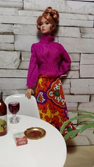 Ennui (moogirl2) Tags: barbie vintagebarbie diorama poppyparker barefootinthepark purplepleasers fashiondoll fashionroyalty mod barbiefashion 70s 1970s 70sfashion vintagefashion vintage