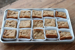 Blondies from NY Times (Food Librarian) Tags: cookie blondie blondies chocolate chip walnuts health toffee nytimes food