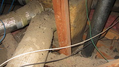 IMG_1450 attic furnace ducting area (ceztom) Tags: march 14 2016 home goleta new scuttlehole attic