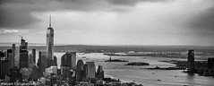 Empire State Building view (hosam alshanawany) Tags: newyork unitedstates us nikkor nyc ny newyorkcity new buildings bw blackandwhite blackwhite photography panorama empirestatebuilding lr lightroom ladyliberty manhattan supershot