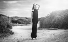 Ksenia (aminefassi) Tags: dress portrait fashion people ksenia aminefassi morocco maroc outdoor bw beauty forest login black noiretblanc