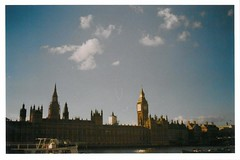 Ben (JamesAlexanderThorne) Tags: olympus trip 35 london england big ben blue fujifilm