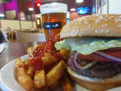 lunch (Jef Poskanzer) Tags: hamburger fries beer producealley goldengateproduceterminal geotagged geo:lat=3764333 geo:lon=12240820 t