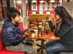 Happy dessert (Alfred Life) Tags: 酷聖石 coldstone shanghai 上海 angela 小姑姑 aunt