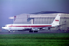 N18704 Boeing 707-331B TWA Trans World Airlines (pslg05896) Tags: n18704 boeing707 twa transworldairlines lhr egll london heathrow
