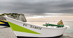A safe harbour (SteTre.) Tags: tretat normandie france fr boat sea landscape beach clouds