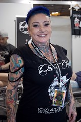 Crown Ink Girl (l plater) Tags: crowninktattooswollongong ritesofpassage2016 tattoofestival sydneyolympicpark