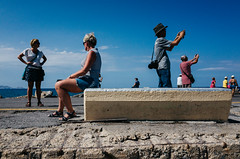 Pose, sit & snap (Spyros Papaspyropoulos) Tags: colour colourphotography color streetphotography streetphotographer street shadows light iraklio crete greece streethunters candid candidphotography ricohgr 18mm photography lightroom dayshot morning day sky clouds