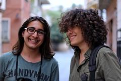 Portrait (Esat Sanlav) Tags: bokeh 50mm 50mmf18 f18 smile human portrait portraiture hair glasses bag canon 1200d white green life happy beatiful