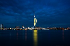 Spinnaker special (Explored) (Paul M Loader) Tags: emirates spinnakertower bluehour longexposure canoneos5dmkivmk4 1635mmf4 historicalportsmouth harbour greatsouthrun2016 uk hampshire reflection reflections smoothwater