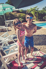 _DSC9434 (David Soanes Photography) Tags: dordogne nikon d3 28 france summer holiday martha ethan swimming pool