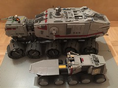 Lego Star Wars Custom Clone Turbo Tank Comparison (schmidtproject) Tags: lego star wars custom clone clones turbo tank turbotank juggernaut huge big set sets epic starwars legostarwars 7261 8098 75151 75028 20006 fahrzeug