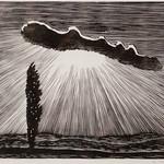 """<b>Einsame Pappel (Lone Poplar)</b><br/> Gerhard Marcks (1889-1981) """"Einsame Pappel (Lone Poplar)"""" Woodcut, 1960 LFAC #426.00.00<a href=""""http://farm6.static.flickr.com/5709/30564223540_99efc1587a_o.jpg"""" title=""""High res"""">∝</a>"""