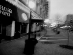 Past the Paramount (~nevikk~) Tags: paramountmarquee germainestreet windowshot mtc buswindow kevinkelly bw