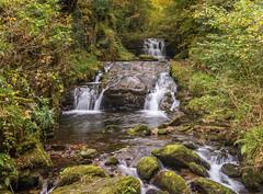 Exmoor Waterfall (Lesley Danford) Tags: water autumn landscape waterfall exmoor watersmeet