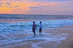 Friends happy moments (Rajavelu1) Tags: beach mararibeach people friends arabiansea sea water sky colourfullsky sunset canon60d art aroundtheworld creative allapuzha kerala india