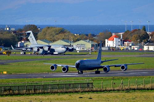 USAF KC-135R and RCAF CC-177 at Prestwick