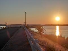 Sonnenuntergangsstimmung (philosaphira) Tags: sonnenuntergangsstimmung sonnenuntergang sonne sunset sun nyord dk brcke bridge bro bron