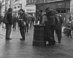 Collection day (Stephen Toye) Tags: citycentre army services helpforheroes charity collection homeless homelessperson norwich norfolk eastanglia leica leicax2