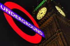 London Underground, Westminster (Nick Fewings 4.5 Million Views) Tags: landscape icon tourist uk nickfewings bokeh nightshot nightscape green night clock bigben westminster underground london