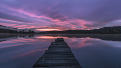 Litmus (rgcxyz35) Tags: autumn scotland trossachs pier water reflections kinlochard sunrise morning lochard lochs