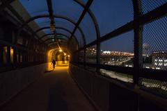 Robert F. Kennedy Bridge (MaximeF) Tags: new newyork usa night manhattan canon lowlight bike cycle robertfkennedybridge