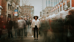 tulllly (den_ise11) Tags: boise idaho outside outdoors hike city downtown fashion blogger stylist style street photography nikon d80 sigma 35mm green tall fro big hair motion blurr blur long exposure dt