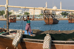 Oman 2016 (d.vanderperre) Tags: oman sur middleeast dhow harbor fishing mosq mosque