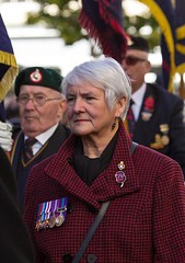 Remembrance Sunday parade, Canterbury, 13 Nov 2016 (chrisjohnbeckett) Tags: remembrancesunday portrait red medals military war peace remembering parade canterbury street urban canonef135mmf2lusm chrisbeckett photojournalism global poppy sombre
