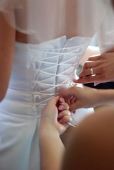2 (    ) Tags: bride dress wedding part back woman white fashion women person birth clothing celebration light married people female traditional behind church emotion background couple detail photography ceremony unrecognizable clothes happiness marriage existence marry beauty joy knot pattern textile corset