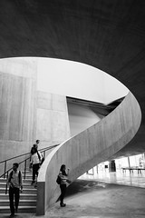 Well (marktmcn) Tags: stairwell stair well the tanks level 1 stairs herzog de meuron curved spiral steps tate modern gallery art galleries people visitors ascending descending london dsc rx100 building structure light lightwell blackandwhite monochrome staircase