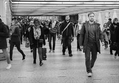Photo challenge 48/52 - City Life (chando*) Tags: blackwhite brussels bruxelles centralstation citylife commuters garecentrale gens monochrome navetteurs noiretblanc people photochallenge streetphotography