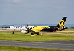 """Turkish Airlines A321 TC-JSJ """"Borussia Dortmund"""" (A F Photos) Tags: airlines turkish a321 borussiadortmund tcjsj"""