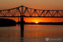 Ohio River Sunrise (AP Imagery) Tags: bridge usa water sunrise river boat downtown waterfront kentucky ky riverfront ohioriver owensboro bluebridge smotherspark glovercary