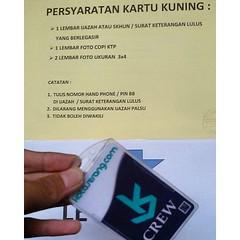 Buat dulur-dulur yang baru lulus sekolah, dan mau cari kerja. Nih, mimin kasih persyaratan bikin kartu kuningnya yah. Persyaratan Kartu Kuning/Kartu Pencari kerja: -1 lembar Ijazah atau SKHUN yg telah di legalisir -1 lembar foto copy KTP -2 lembar foto 3x (kotaserang) Tags: 2 dan indonesia 1 foto yang di yg cari copy lulus sekolah ktp kasih mau baru nih yah 3x4 atau kerja bikin buat kartu telah serang kotakita pencari mimin banten lembar ijazah kartukuning kotaserang instagram ifttt legalisir httpwwwkotaserangcom kuningnya dulurdulur persyaratan kuningkartu skhun ksdcinfo infokotaserang dulurksdc kartupencarikerja disnakertrans