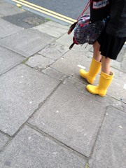 My favourite: yellow Hunter wellies! (Hunter Wellies!!) Tags: